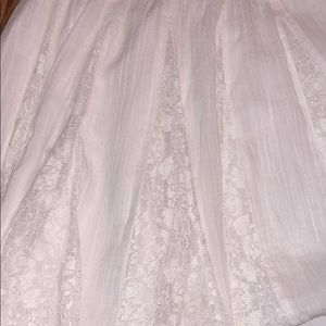 Hollister Skirts - White skater skirt with lace detailing